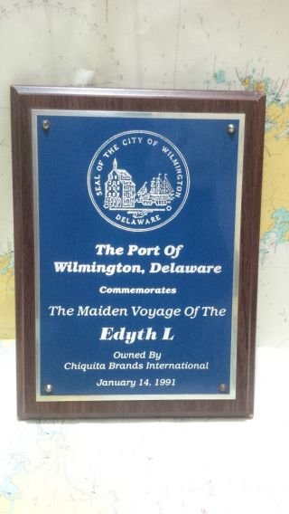 Nautical Vintage  The Port Of Wilmington Delware Edyt L  Eccentric Shield S082 photo