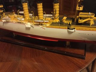Ss Emden 1908 Wooden Ship Model German Imperial Navy 33