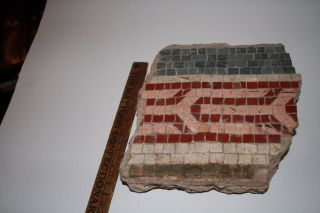 Large C.  200 Ad Roman Britain (london) Mosaic Tile Fragment W Provenance No Min. photo