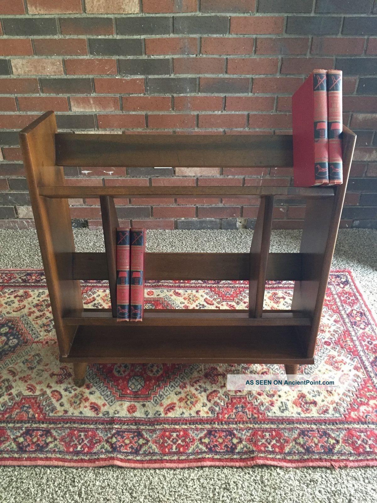 Vintage Danish Mid Century Modern Raymor Walnut Bookcase