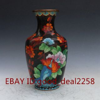 Exquisite Chinese Cloisonne Hand - Carved Flower Vases photo