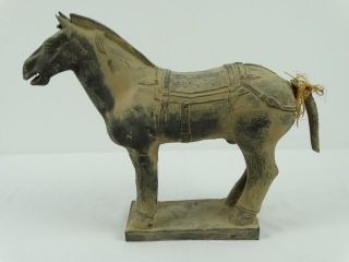 Chinese Tang Dynasty Style Archaic Horse Figure Statue Sculpture A/f China 20thc photo