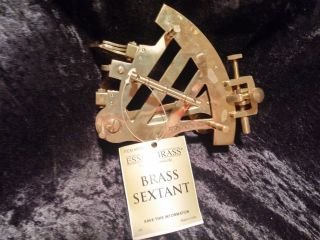 Brass Sextant With Box And Instructions photo