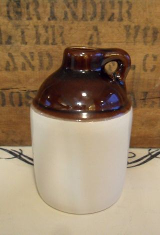 Rare Antique Beauce Ware Quebec Canada Small 1 Pint Crock Jug No Flaws photo