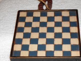 Primitive Handmade Checkerboards And Checkers,  8.  25