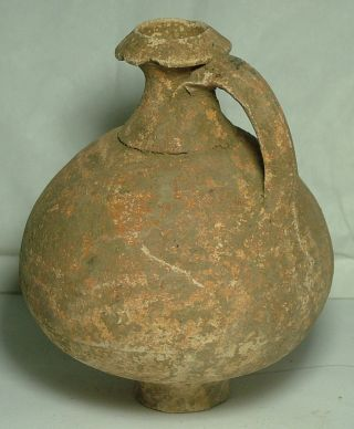 Rare Ancient Roman Ceramic Clay Vase Jug Vessel Pottery Artifact 3 Cent. photo