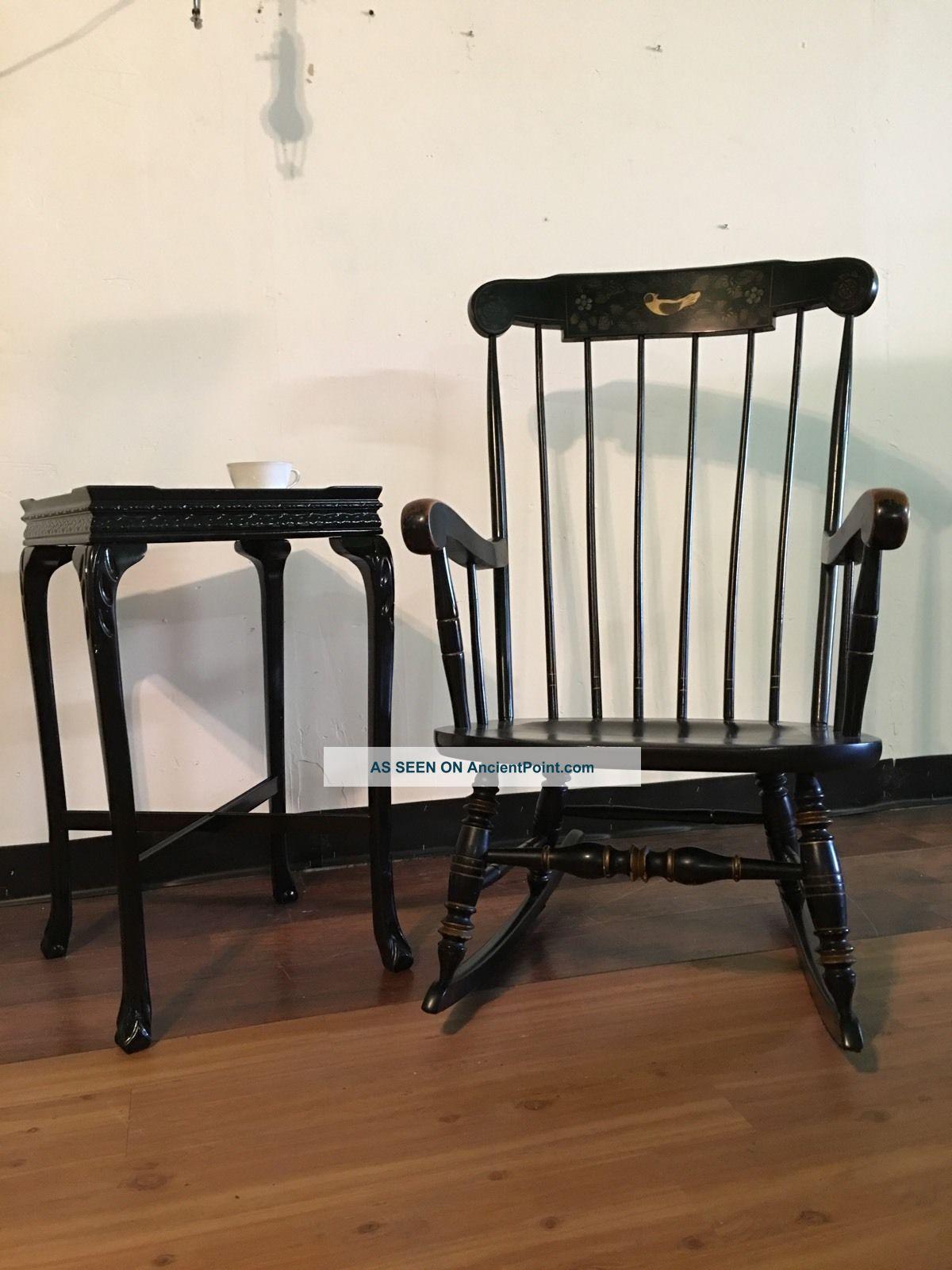 Vintage Exceptional   Ethan Allen Boston Rocker, Rocking Chair, Black  Rocking Ch