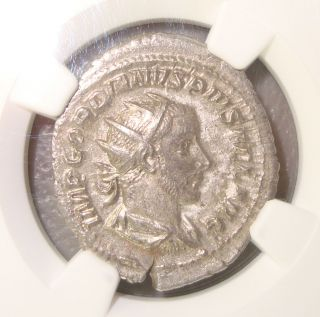 Ad 238 - 244 Gordian Iii Providentia Ancient Roman Silver Double - Denarius Ngc Au photo