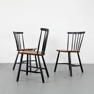 3 Mid Century Modern Teak Chairs 60s Denmark | Danish Modern Stühle W Tapiovaara photo