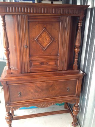 Antique Dining Room Hutch photo