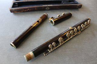 Antique Wooden Concert Flute: Rudall & Carte,  London photo