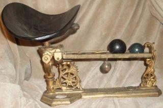 Antique/vintage No.  44 Henry Troemner Metal Ball Scale Candy Lozenges Cough Drops photo