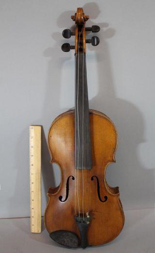 Antique 19thc Signed John Albert Philadelphia,  4/4 Figured Maple Violin,  Nr photo