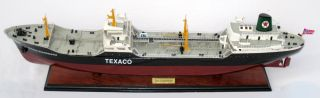 Texaco Skandinavia Oil Tanker Ship Model - Handmade Wooden Ship Model photo