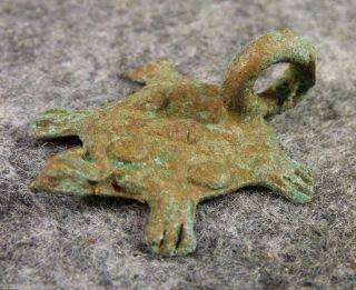 Indian Bronze Trade Turtle Pendant 1800 ' S photo