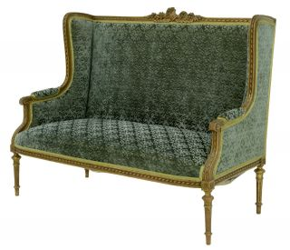 19th Century French Carved Wood And Gilt Sofa photo