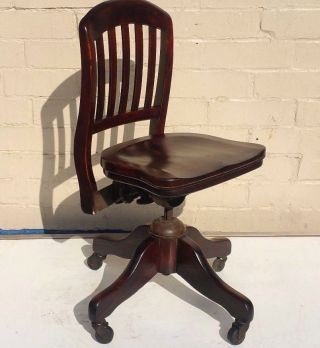 Antique Bankers Side Chair Style Of Boling,  Gunlocke,  Shattuck,  Sikes 1950 photo