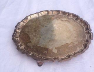 Hallmarked Small Silver Tray photo