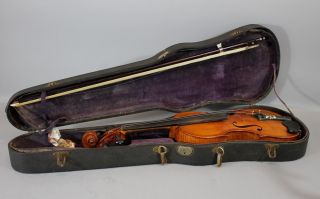 Rare Antique 1928 Joseph Ulric Beliveau American Violin Providence Ri Luthier Nr photo