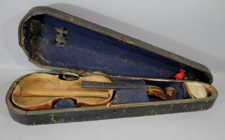 Antique Early 19thc Augustin Claudot French 4/4 Violin, photo