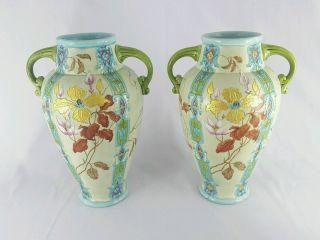Art Nouveau Gien French Majolica Vases - 10