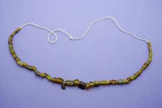 Ancient Romano Egyptian Glass Bead Necklace 1st C.  Ad, photo