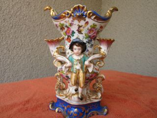 Antique French Jacob Petit Porcelain Vase photo