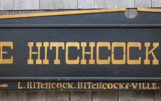 Large Vintage Hitchcock Chair Co.  Store Advertising Wood Sign For Tables Chests photo
