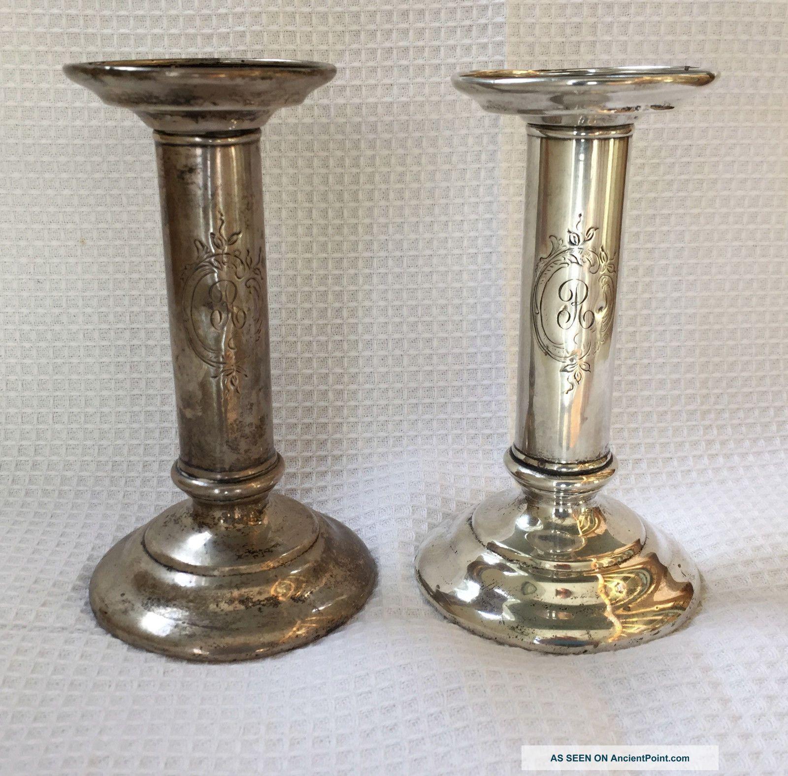 Antique Tiffany & Co Sterling Silver Candlesticks 925 Circa 1940s Candlesticks & Candelabra photo
