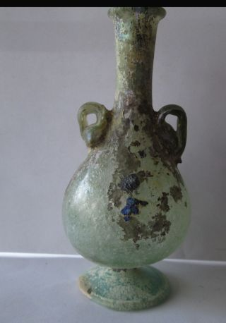 Aantik Roman Glass Vase With Two Handhes photo