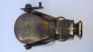 Antique Brass Maritime Vintage Gift Foldable Binocular Telescope photo