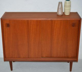 Modern Danish Design - Teak Mini Sideboard - 1 - Eames Era photo