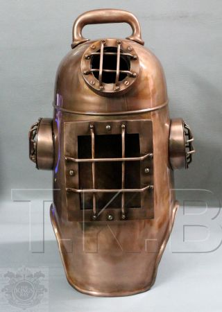 Miller Dunn Diving Divers Helmet Life Size Steel Old Nautical Rare Diving Decor photo