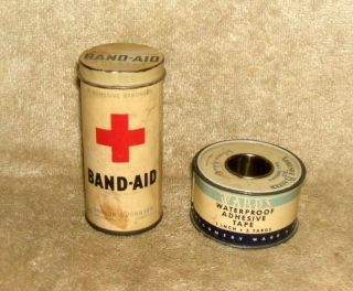 2 Early 1900 ' S Johnson & Johnson Product Containers photo