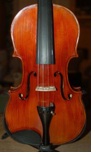 Old Handmade German 4/4 Violin - Lab.  Dominguez Professional - 4 Corner Blocks photo