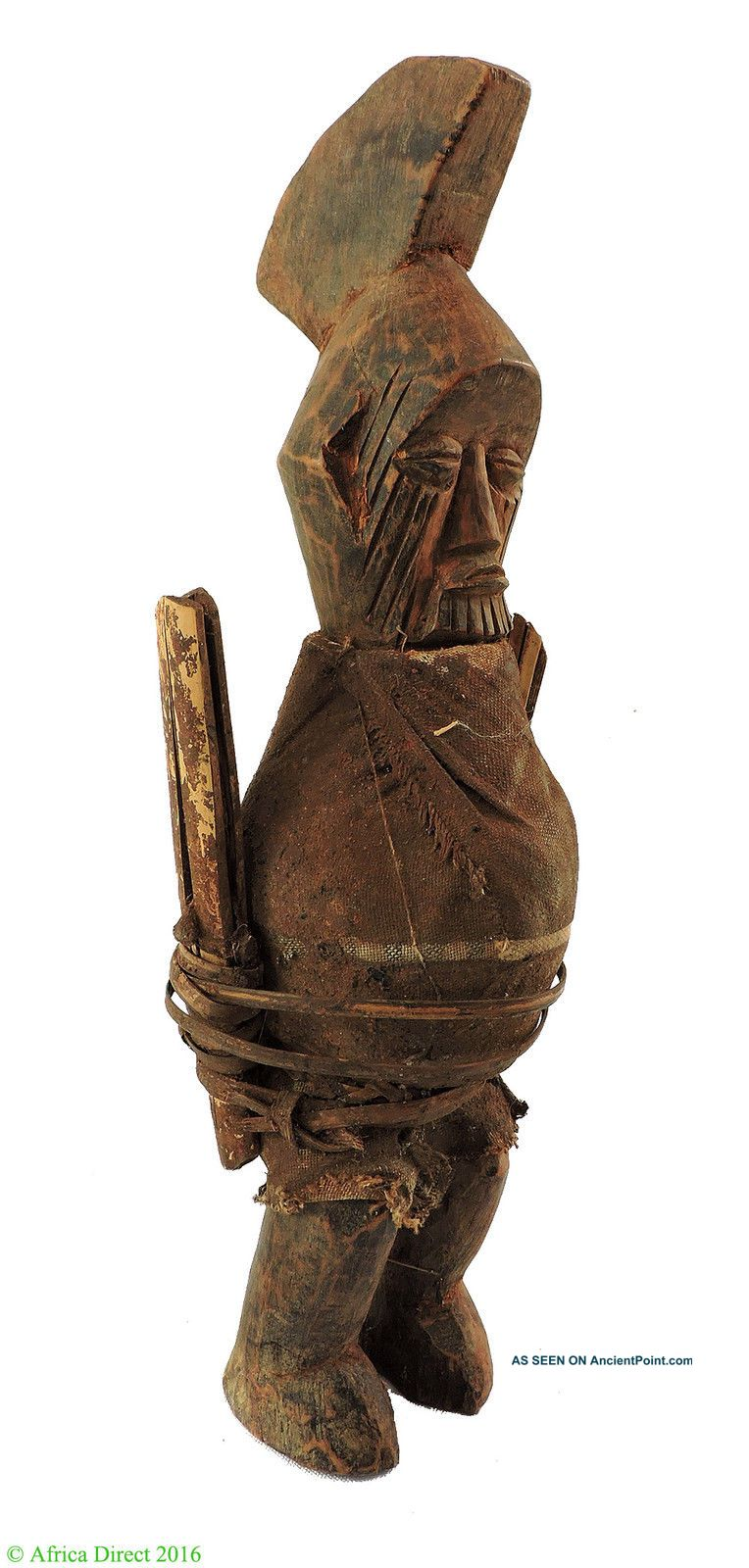 Teke Power Figure Wrapped Magic Charges Congo African Art Sculptures & Statues photo