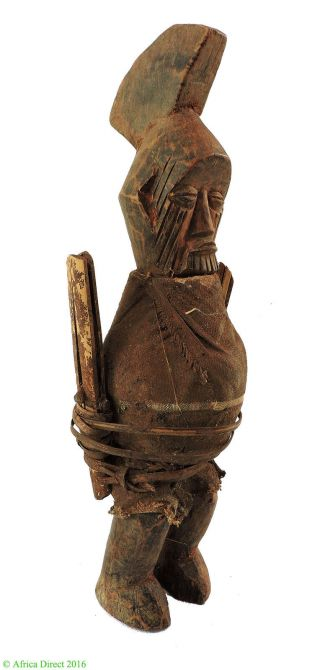 Teke Power Figure Wrapped Magic Charges Congo African Art photo