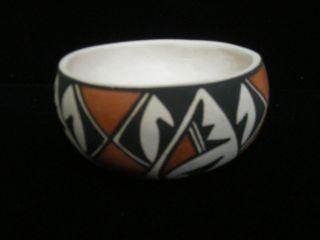 Vintage Laguna Pueblo Indian Pottery Bowl - And - photo