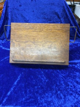 Vintage Oak Laptop Writing Desk Gaylord Brothers Inc.  Usa Great Look photo