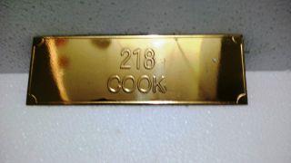 Vintage Maritime Marine Ship Plaque & Signs Brass Door Number Plaque photo