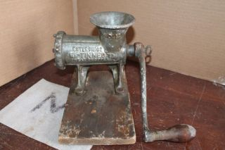 Vintage Enterprise No.  12 Tinned Meat Grinder Chopper Cast Iron photo