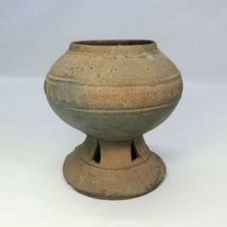 D785: Rare Korean Excavated Earthenware Vessel Of Silla Called Shiragi. photo