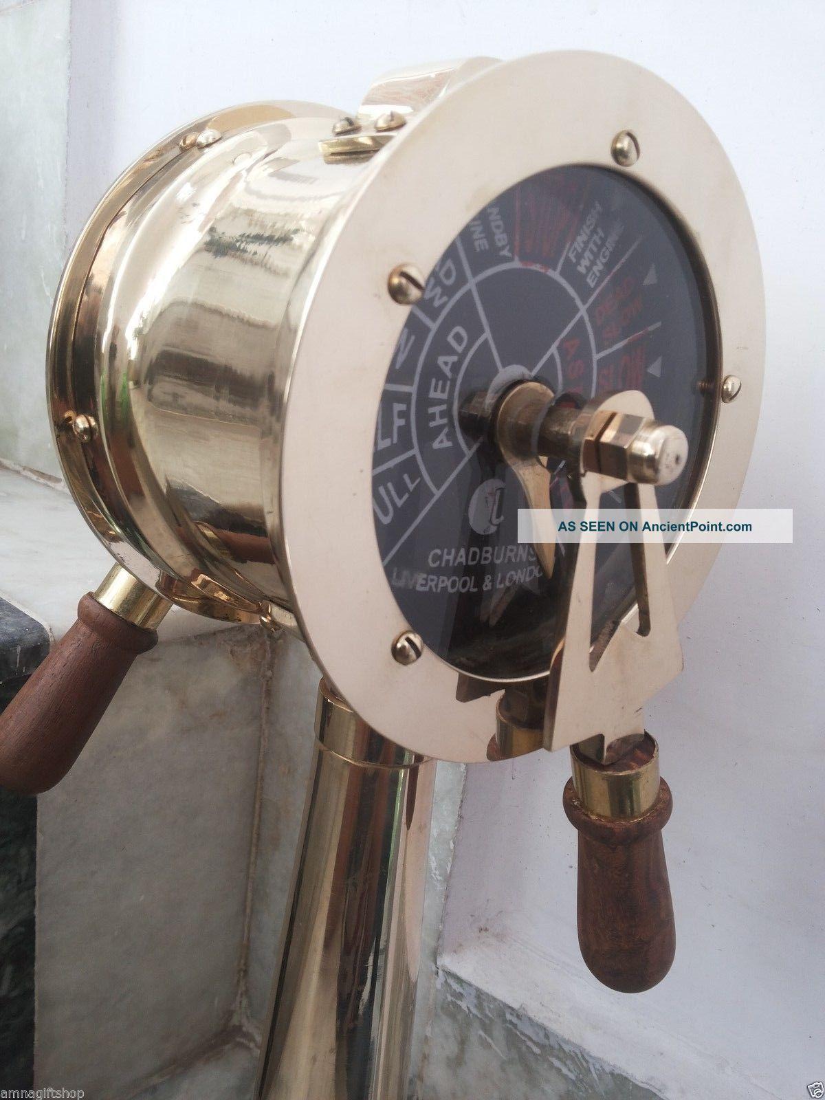 Ship ' S Engine Order Telegraph Antique Nautical Brass Collectible Decorative Telegraphs photo