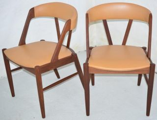 Modern Danish Design - Two X Teak Chairs - Panton Era photo