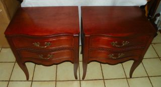 Cherry Nightstands / End Tables By Drexel (ns34) photo