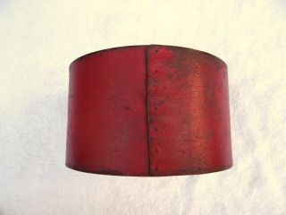 Antique Old Red Painted Bentwood Pantry Box Folk Art photo