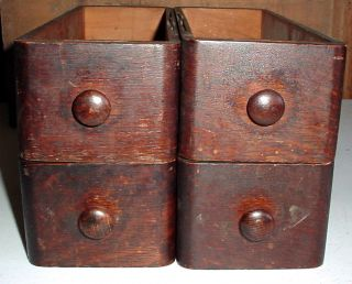 4 Wooden Sewing Machine Drawers Vintage Shabby Primitive Shelves photo