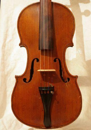 Antique Violin Lab.  Johan Stoss Fecit Pragae Anno 1824 photo