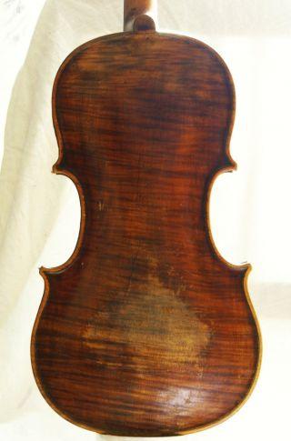 Interesting Antique Violin Labelled Thomas Edlinger Ausburg 1796 For Repair photo