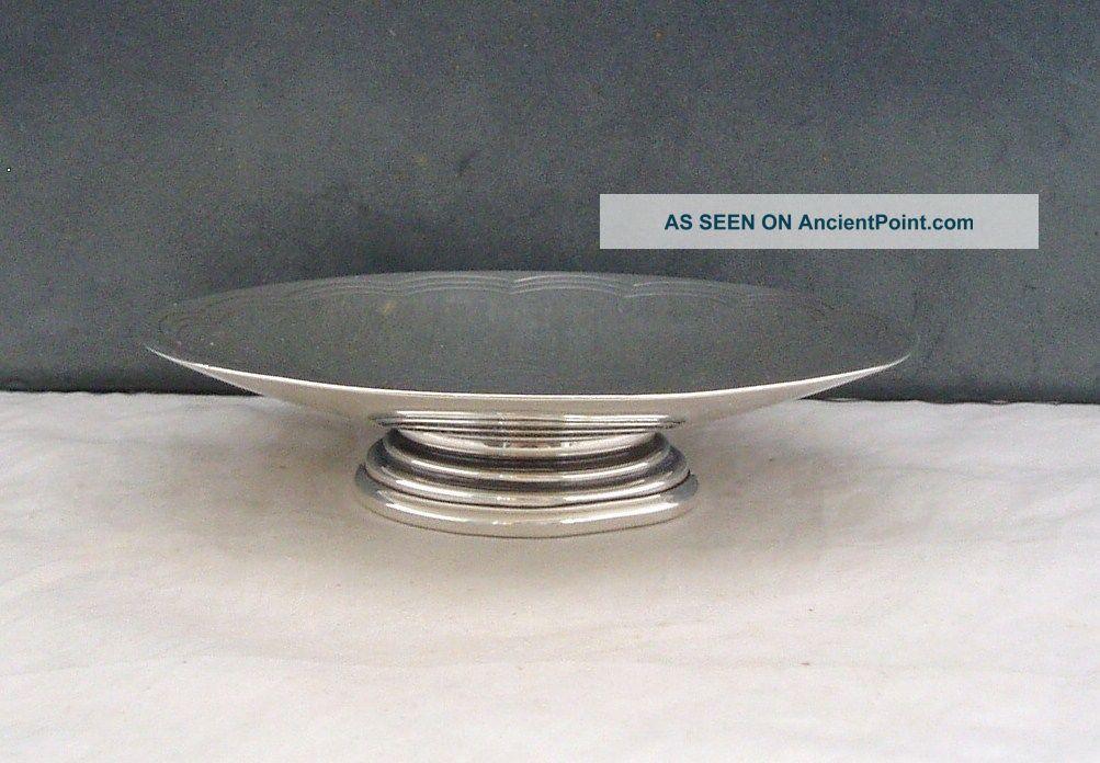 Rare Hukin & Heath Silver Art Deco Footed Dish/tazza Birmingham 1944 Dishes & Coasters photo